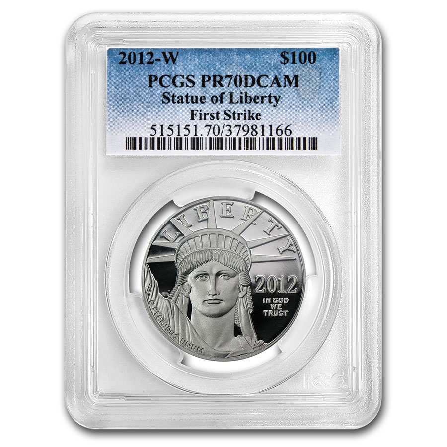 2012-W 1 oz Prf Platinum American Eagle PR-70 PCGS (First Strike)